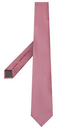 Мужской шелковый галстук CANALI розового цвета, арт. 70/HJ03121   Фото 2