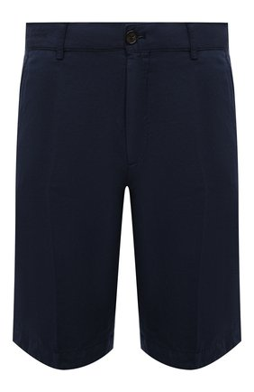 Мужские шорты из хлопка и льна PAUL&SHARK темно-синего цвета, арт. 21414041/FJD | Фото 1