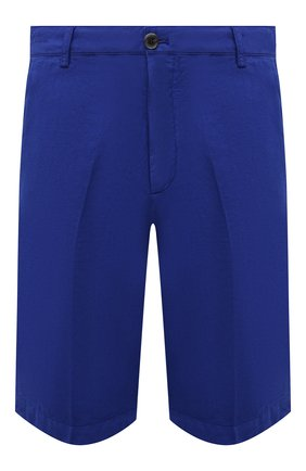 Мужские шорты из хлопка и льна PAUL&SHARK синего цвета, арт. 21414041/FJD | Фото 1