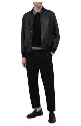 Мужское шерстяное поло BURBERRY черного цвета, арт. 8038178 | Фото 2