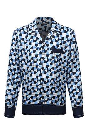 Мужская шелковая сорочка DOLCE & GABBANA синего цвета, арт. G5GY4T/FI1VC | Фото 1