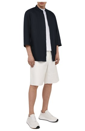 Мужская льняная рубашка DOLCE & GABBANA темно-синего цвета, арт. G5HR2T/FU4IK | Фото 2