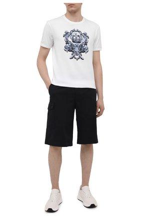 Мужская хлопковая футболка DOLCE & GABBANA белого цвета, арт. G8JX7T/FI76F | Фото 2