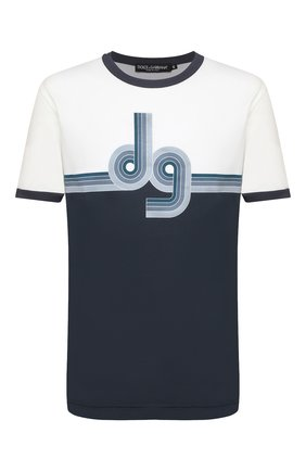 Мужская хлопковая футболка DOLCE & GABBANA синего цвета, арт. G8JX7T/FI7Z0   Фото 1