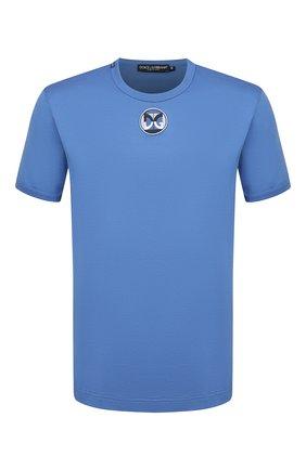 Мужская хлопковая футболка DOLCE & GABBANA синего цвета, арт. G8JX7Z/G7WIG | Фото 1