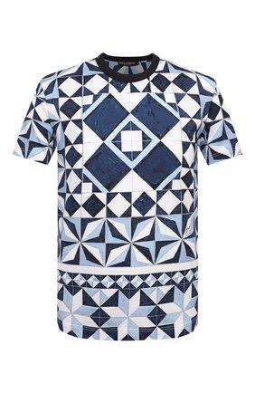 Мужская хлопковая футболка DOLCE & GABBANA синего цвета, арт. G8KBAT/FI797 | Фото 1