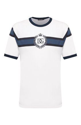 Мужская хлопковая футболка DOLCE & GABBANA белого цвета, арт. G8LW4T/FI70B | Фото 1