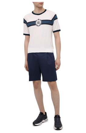 Мужская хлопковая футболка DOLCE & GABBANA белого цвета, арт. G8LW4T/FI70B | Фото 2