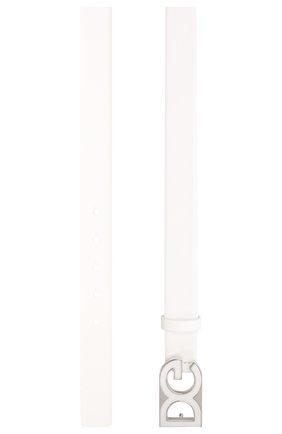 Мужской кожаный ремень DOLCE & GABBANA белого цвета, арт. BC4462/AV237 | Фото 2
