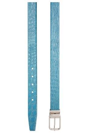 Мужской ремень из кожи каймана DOLCE & GABBANA синего цвета, арт. BC4216/A2110/CYAC | Фото 2