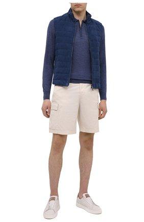 Мужское шерстяное поло LUCIANO BARBERA синего цвета, арт. 109877/53214 | Фото 2