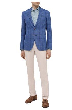 Мужской пиджак изо льна и шерсти LUCIANO BARBERA синего цвета, арт. 111A25/15087 | Фото 2