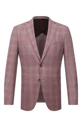 Мужской шерстяной пиджак LUCIANO BARBERA розового цвета, арт. 111T25/19248 | Фото 1