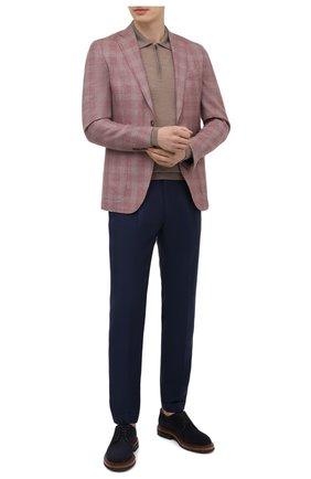 Мужской шерстяной пиджак LUCIANO BARBERA розового цвета, арт. 111T25/19248 | Фото 2