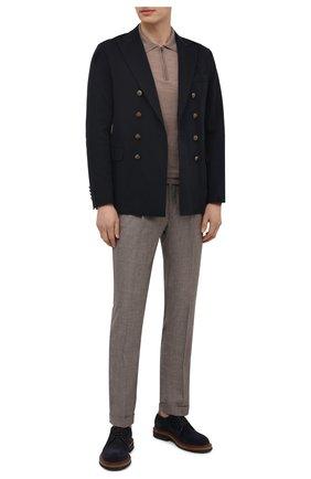 Мужские брюки из шерсти и льна LUCIANO BARBERA светло-бежевого цвета, арт. 114611/45022 | Фото 2