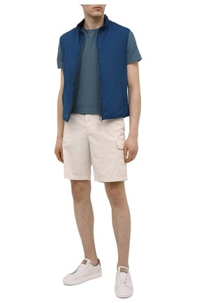 Мужская хлопковая футболка LUCIANO BARBERA темно-бирюзового цвета, арт. 119565/81213 | Фото 2