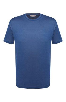 Мужская хлопковая футболка LUCIANO BARBERA синего цвета, арт. 119565/81215 | Фото 1