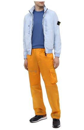 Мужская хлопковая футболка LUCIANO BARBERA синего цвета, арт. 119565/81215 | Фото 2