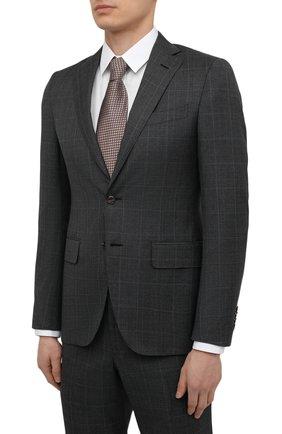 Мужской шерстяной костюм LUCIANO BARBERA серого цвета, арт. 5R2014/25219 | Фото 2