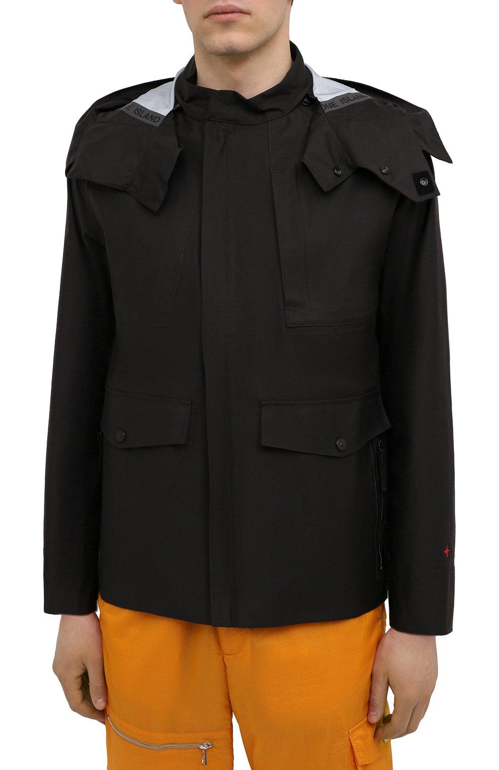 Мужская куртка STONE ISLAND черного цвета, арт. 7415442X1   Фото 3