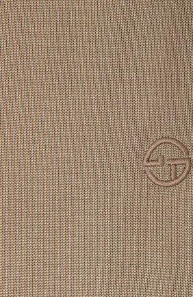 Мужской шелковый шарф GIORGIO ARMANI бежевого цвета, арт. 745121/1P121 | Фото 2