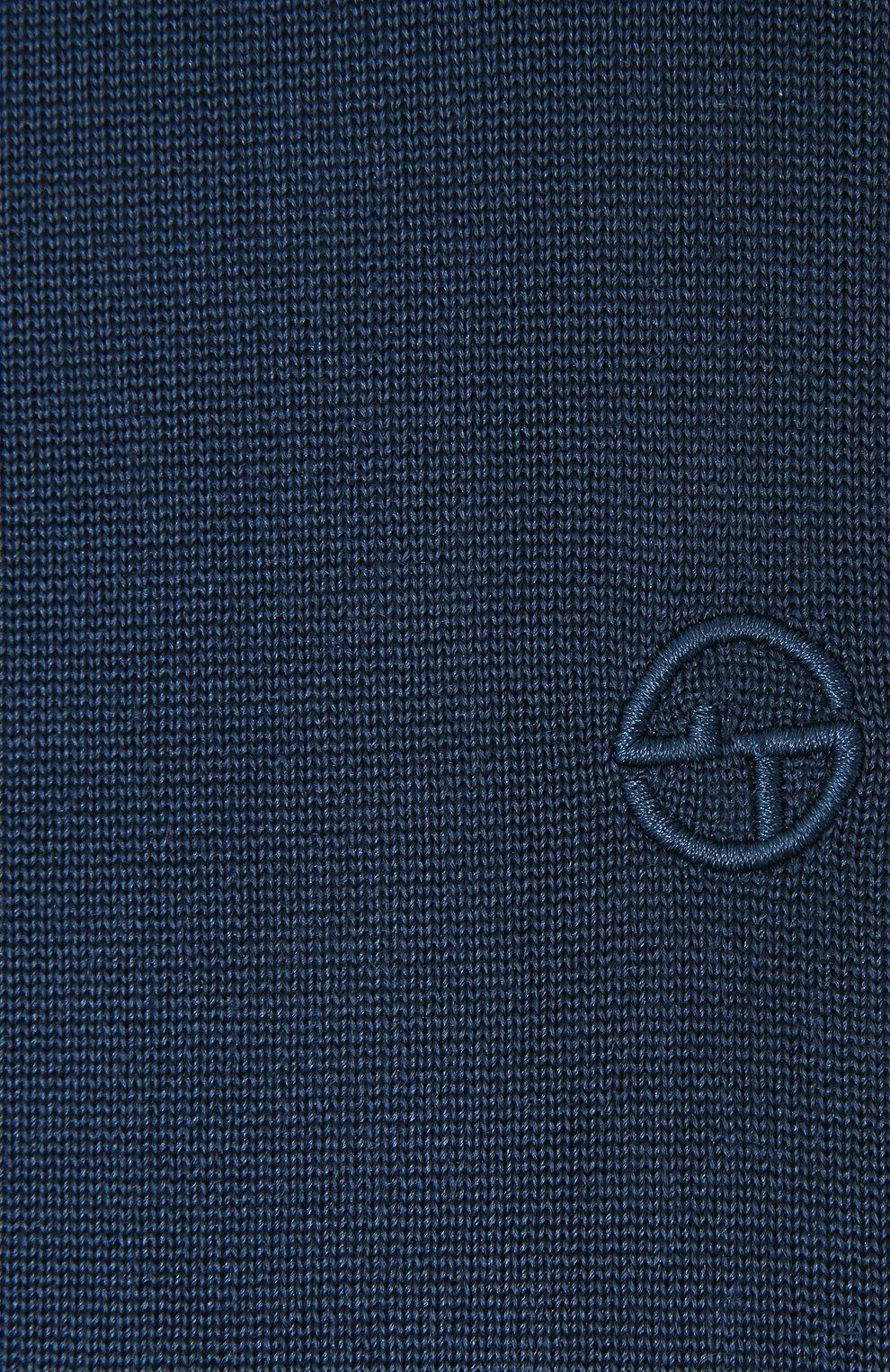 Мужской шелковый шарф GIORGIO ARMANI темно-синего цвета, арт. 745121/1P121   Фото 2