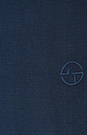 Мужской шелковый шарф GIORGIO ARMANI темно-синего цвета, арт. 745121/1P121 | Фото 2