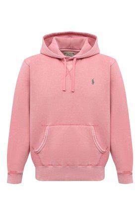 Мужской хлопковое худи POLO RALPH LAUREN розового цвета, арт. 710793020 | Фото 1