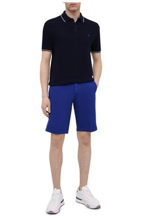 Мужское поло из хлопка и льна POLO RALPH LAUREN синего цвета, арт. 710834631 | Фото 2