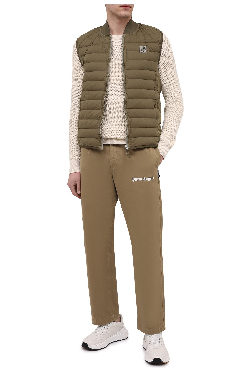 Мужской хлопковый свитер POLO RALPH LAUREN кремвого цвета, арт. 710835828   Фото 2 (Рукава: Длинные; Принт: Без принта; Длина (для топов): Стандартные; Материал внешний: Хлопок; Мужское Кросс-КТ: Свитер-одежда; Стили: Кэжуэл)
