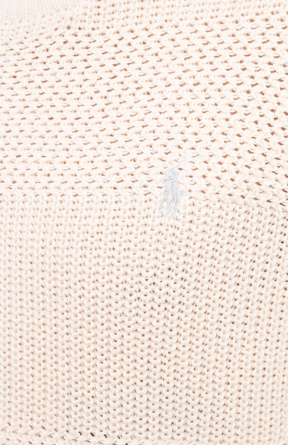 Мужской хлопковый свитер POLO RALPH LAUREN кремвого цвета, арт. 710835828   Фото 5 (Рукава: Длинные; Принт: Без принта; Длина (для топов): Стандартные; Материал внешний: Хлопок; Мужское Кросс-КТ: Свитер-одежда; Стили: Кэжуэл)