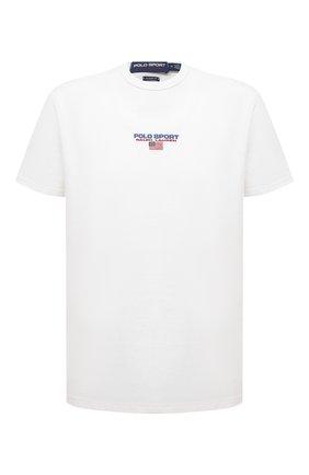 Мужская хлопковая футболка POLO RALPH LAUREN белого цвета, арт. 710836755 | Фото 1