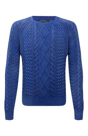 Мужской хлопковый свитер POLO RALPH LAUREN синего цвета, арт. 710841559 | Фото 1