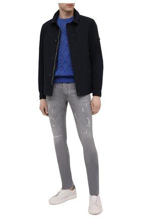 Мужской хлопковый свитер POLO RALPH LAUREN синего цвета, арт. 710841559 | Фото 2