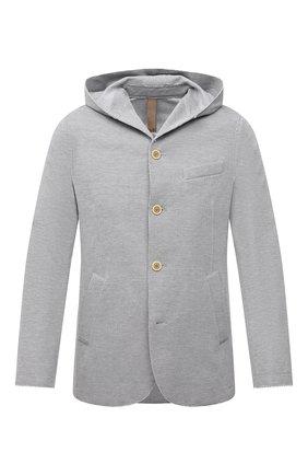 Мужской хлопковый пиджак ELEVENTY светло-серого цвета, арт. C70GIAB01 JAC23021 | Фото 1