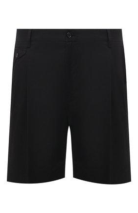 Мужские хлопковые шорты DOLCE & GABBANA черного цвета, арт. GW0MAT/FUFJR | Фото 1