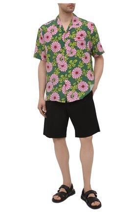 Мужские хлопковые шорты DOLCE & GABBANA черного цвета, арт. GW0MAT/FUFJR | Фото 2