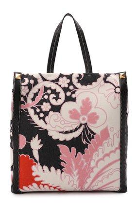 Мужская текстильная сумка-шопер VALENTINO разноцветного цвета, арт. VY2B0A65/ETG | Фото 1 (Материал: Текстиль)