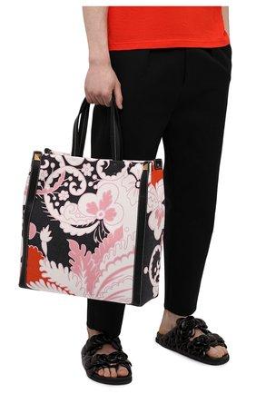 Мужская текстильная сумка-шопер VALENTINO разноцветного цвета, арт. VY2B0A65/ETG | Фото 2 (Материал: Текстиль)