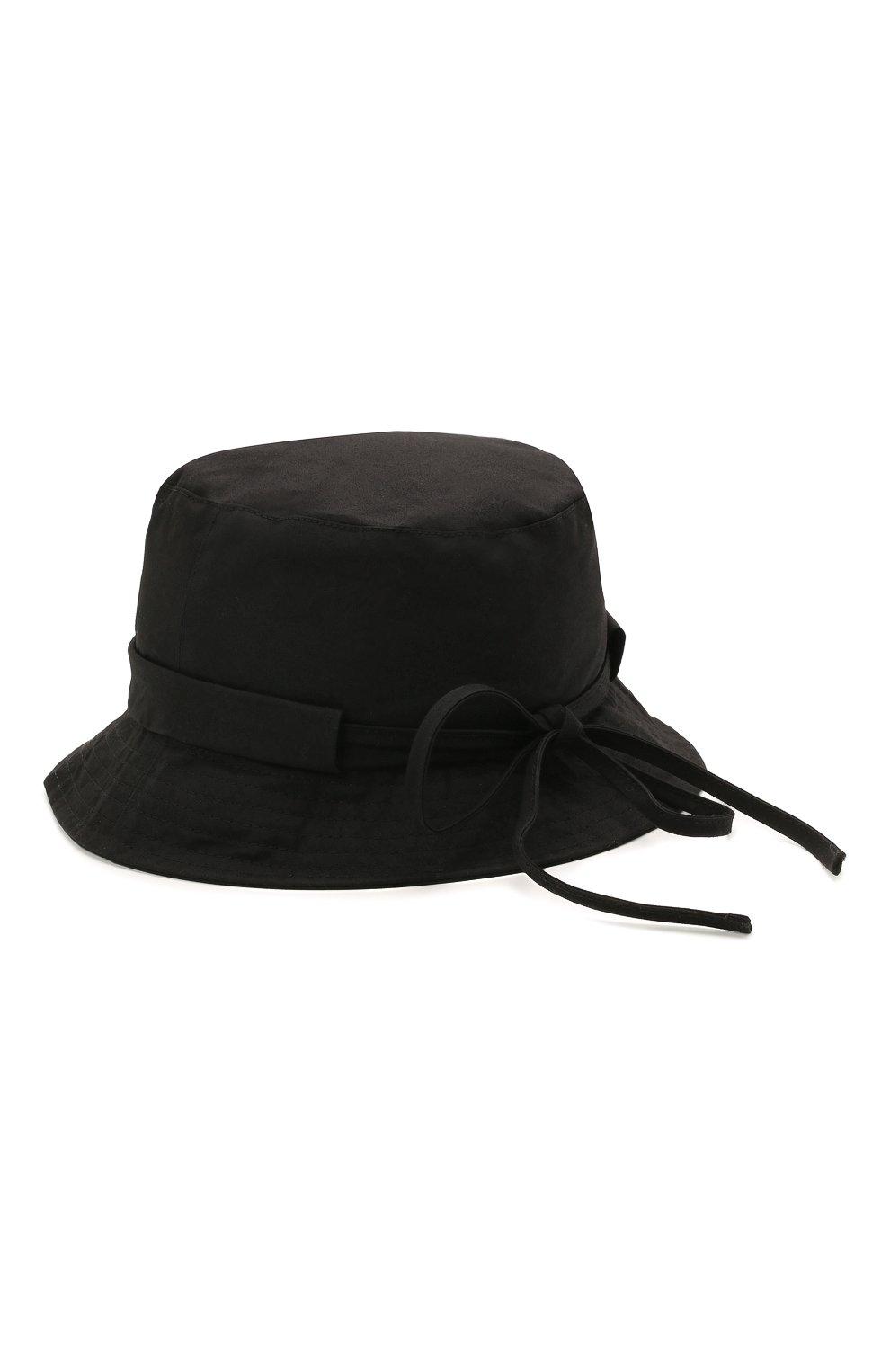 Мужская хлопковая панама le bob gadjo JACQUEMUS черного цвета, арт. 215AC03/504990 | Фото 2
