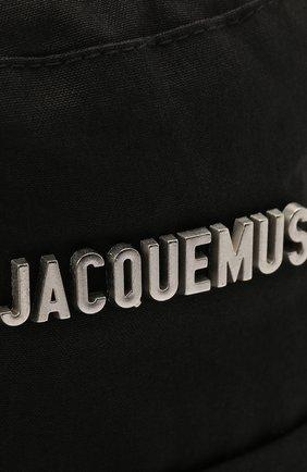 Мужская хлопковая панама le bob gadjo JACQUEMUS черного цвета, арт. 215AC03/504990 | Фото 3