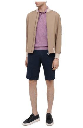 Мужские кожаные кеды SANTONI темно-синего цвета, арт. MBCD21443BARCDIKU55 | Фото 2