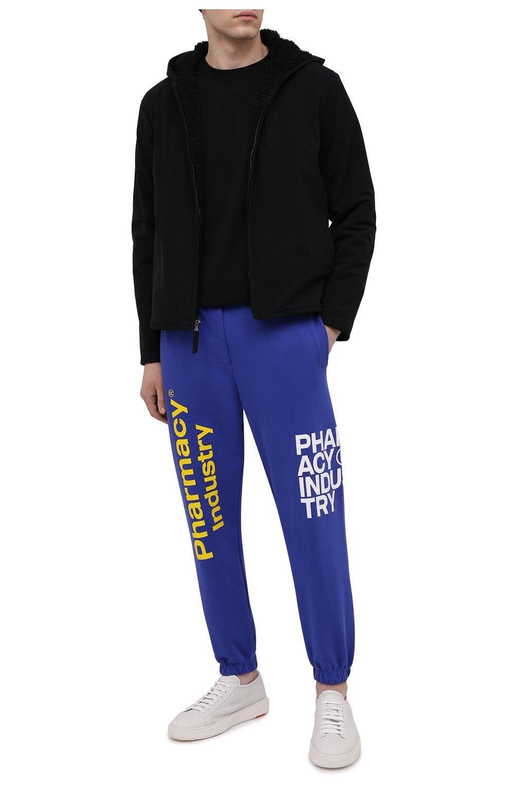 Мужские кожаные кеды SANTONI белого цвета, арт. MBCD21443BARCDIKI50 | Фото 2 (Материал внутренний: Натуральная кожа; Подошва: Массивная)