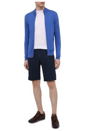 Мужской хлопковый кардиган SVEVO синего цвета, арт. 46509SE21/MP46 | Фото 2