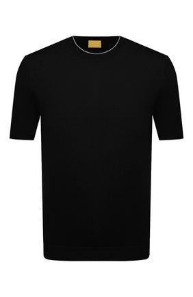 Мужской хлопковый джемпер SVEVO черного цвета, арт. 4650/3SE21/MP46   Фото 1