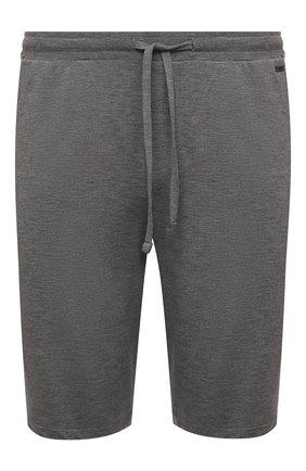 Мужские домашние шорты из вискозы HANRO серого цвета, арт. 075039 | Фото 1 (Материал внешний: Вискоза; Кросс-КТ: домашняя одежда)