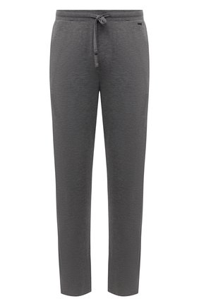 Мужские домашние брюки из вискозы HANRO серого цвета, арт. 075040 | Фото 1 (Материал внешний: Вискоза; Длина (брюки, джинсы): Стандартные; Кросс-КТ: домашняя одежда; Мужское Кросс-КТ: Брюки-белье)