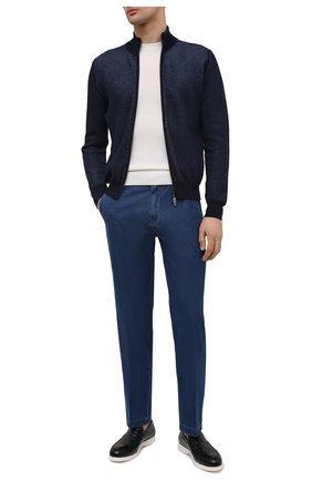 Мужские кожаные лоферы DOUCAL'S темно-синего цвета, арт. DU2814ARTHUY023IB02 | Фото 2