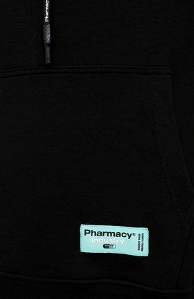 Мужской хлопковое худи PHARMACY INDUSTRY черного цвета, арт. PHM215 | Фото 5