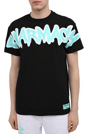 Мужская хлопковая футболка PHARMACY INDUSTRY черного цвета, арт. PHM224 | Фото 3